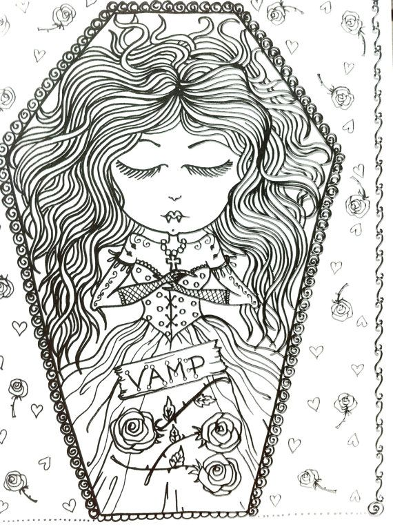 coloring book vampire coloring book for you to by chubbymermaid