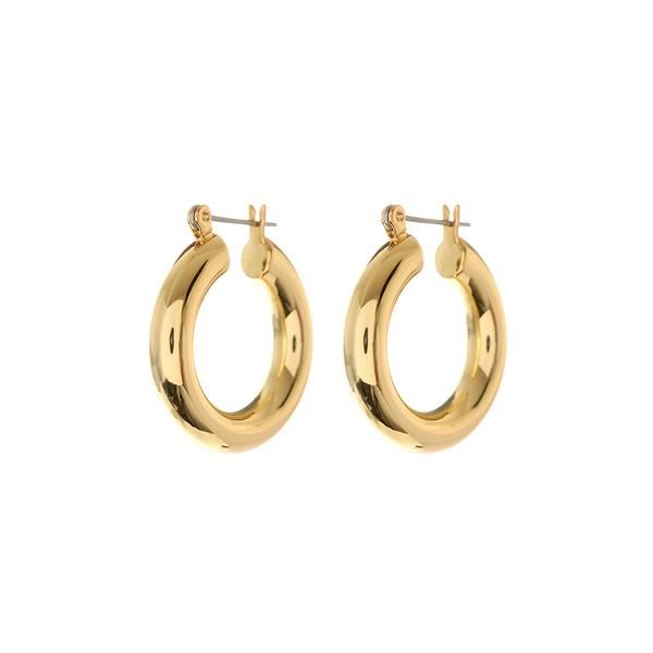 14K Gold Coated Surgical Steel Tiny Hypoallergenic Hoop Earrings