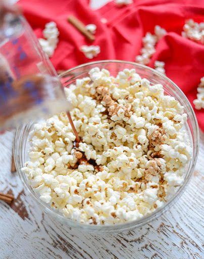 Maple Snickerdoodle Popcorn With Coconut Oil, Popcorn Kernels, Coconut Oil, Pure Maple Syrup, Cinnamon, Salt