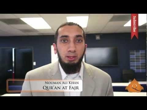 La lecture du Coran à l'aube - Nouman Ali Khan - YouTube