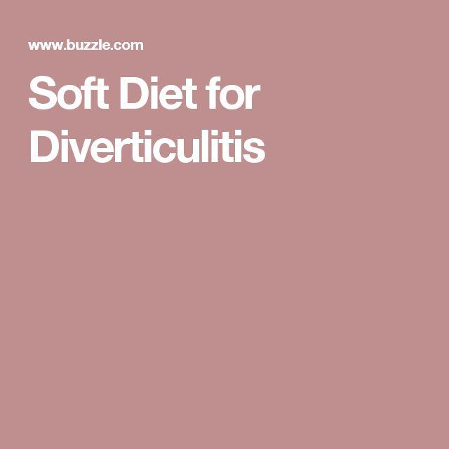 Soft Food Diet Ideas For Diverticulitis