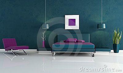 camera-da-letto-blu-e-viola-moderna-10983443.jpg (400×240)