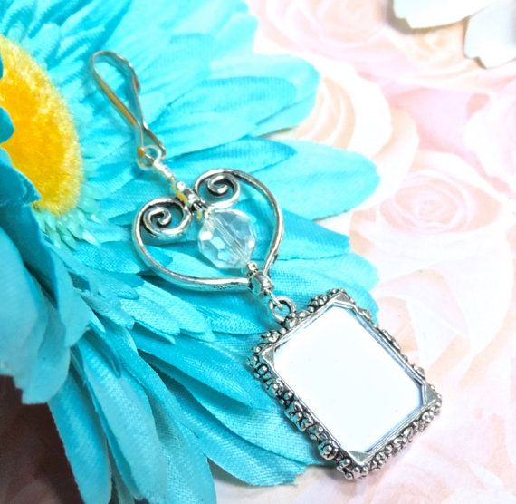Wedding Bouquet Charm  Photo Charm for Bouquet  by SmilingBlueDog