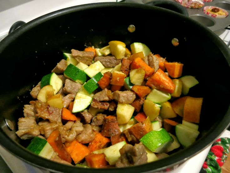 Fall Apple Stew with onions