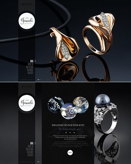 Best Jewelry Web Templates Images On   Coffee Break