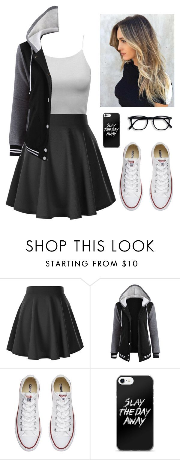 """~ Slay The Day Away ~"" by black-lynx on Polyvore featuring Converse"