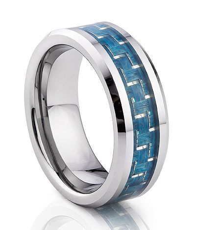 TUR 187CF - 8mm Men's Tungsten Carbide Wedding Ring