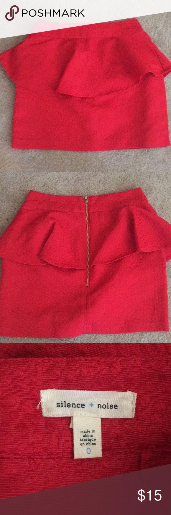 Silence and Noise mini peplum skirt Peplum skirt from urban outfitters silence + noise Skirts Mini