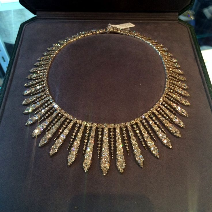 A diamond kokoshnik necklace/tiara at Faerber New York.