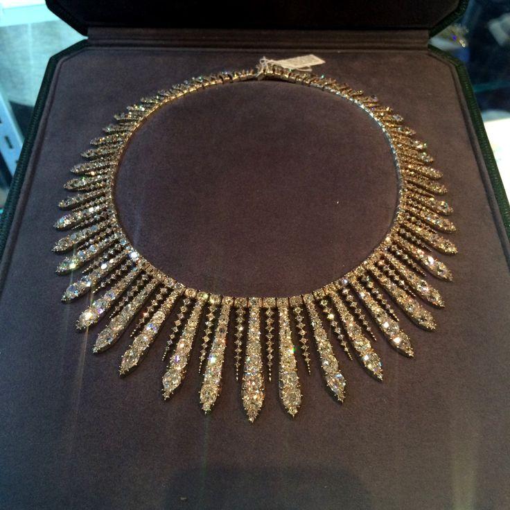 A diamond kokoshnik necklace/tiara . Faerber NYC | .#luxury #diamond #necklace