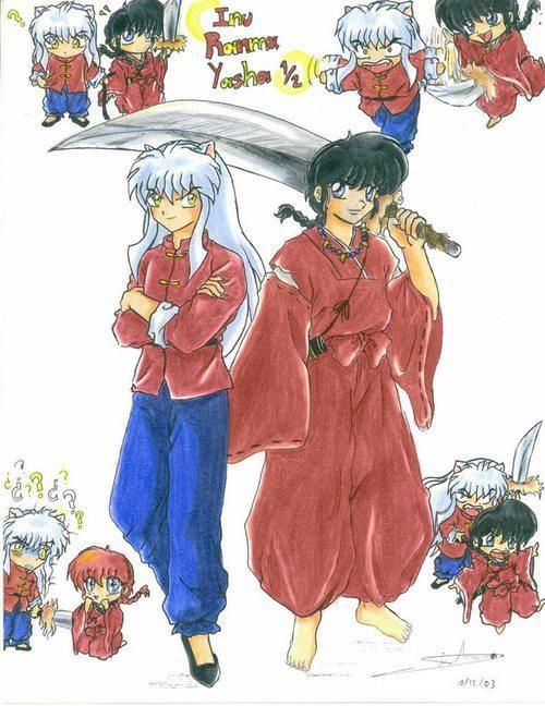 OMG too cute ! InuYasha and Ranma !