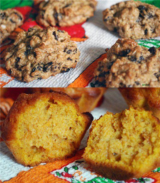 Овсяное печенье и тыквенные мини маффины - The baking man