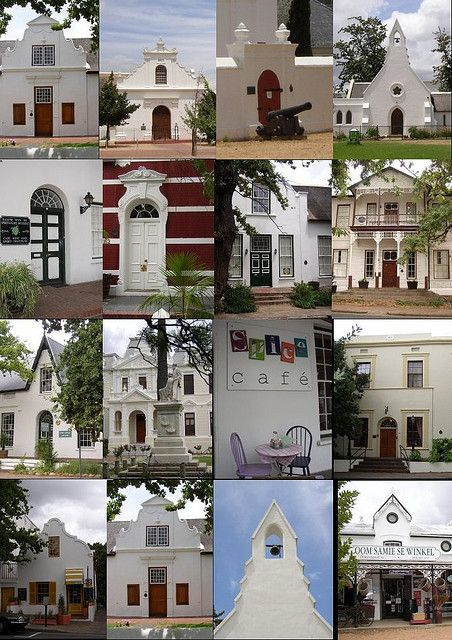 historic Dorp Street, Stellenbosch, South Africa
