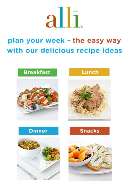 Planning healthy meals while you're on a weight-loss journey can be hard, but alli® can help! Our collection of delicious recipes has you covered from breakfast to dinner with a snack in between. alli® (orlistat 60 mg) is for weight-loss in overweight adults, 18 years and older, when used along with a reduced-calorie and low-fat diet. Follow label directions.