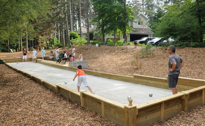 Bocce Ball court | Backyard bocce court | Bocce court ...