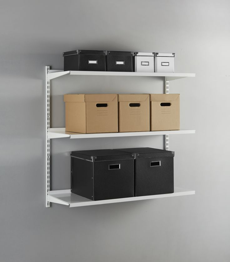 New wall shelving kits - various finishes, sizes and colours - perfect for home, office or retails