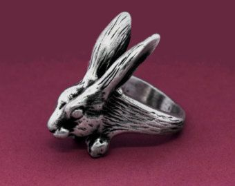 Bague lapin en argent sterling, Bunny argent anneau, anneaux Animal Unique, Bunny Unique bijoux, bijoux lapin, Animal Wrap anneau, mignon Animal