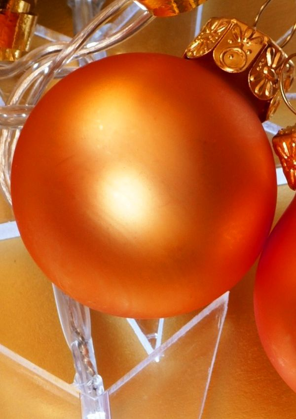 orange.quenalbertini: Orange Christmas Ball Ornament