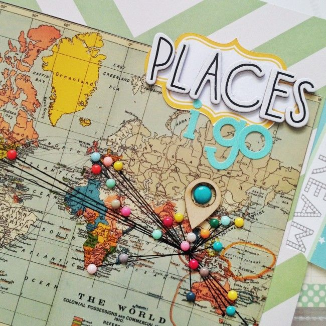 """Map with """"pins"""" (enamel dots) - I've had an idea for something similar for ages and seeing this is just great »»» Findingnana"""