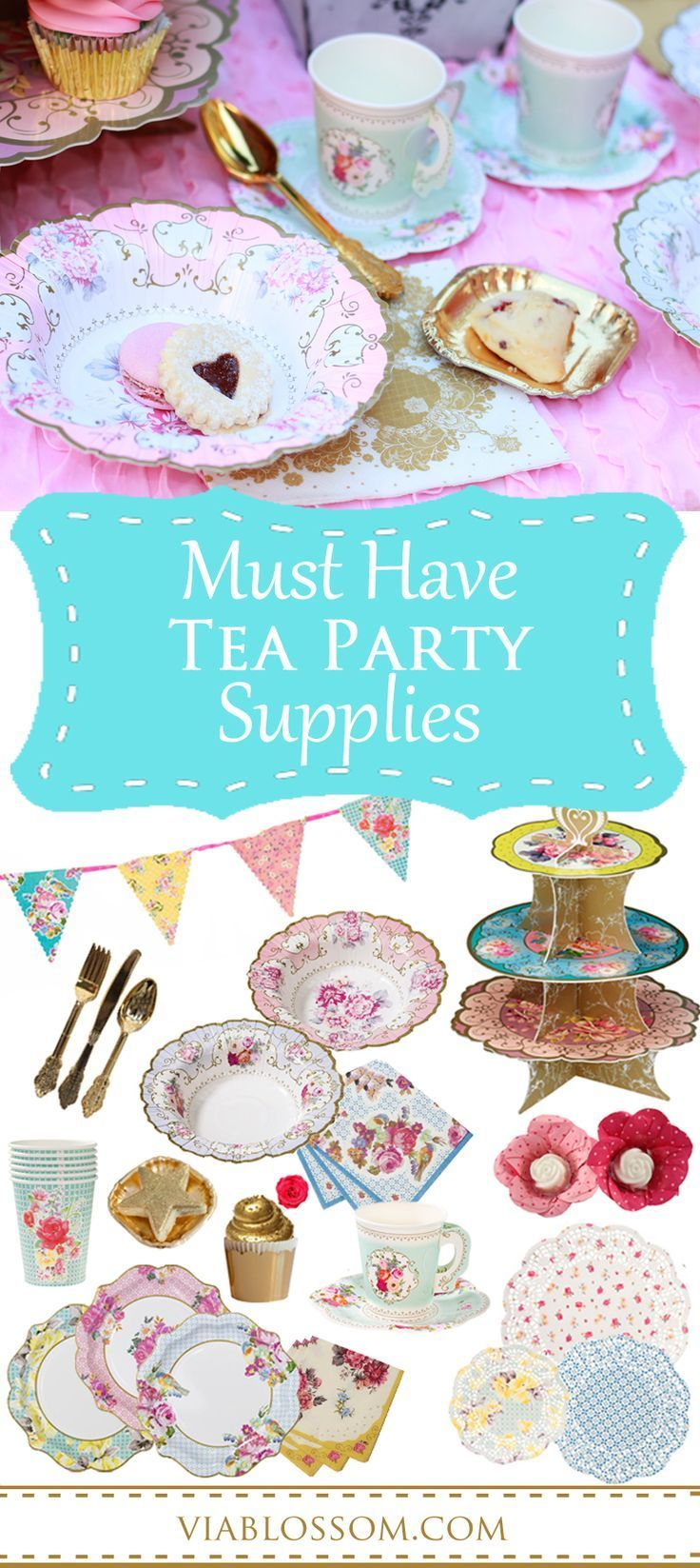 Mad hatter tea party decoration ideas - Must Have Tea Party Supplies For A Girl Birthday Party A Baby Shower Or A