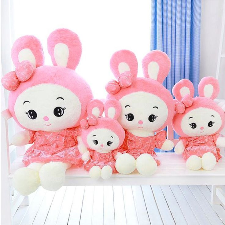 Princess Style Bunny Rabbit Plush Doll Toy Gift 100cm - Pink