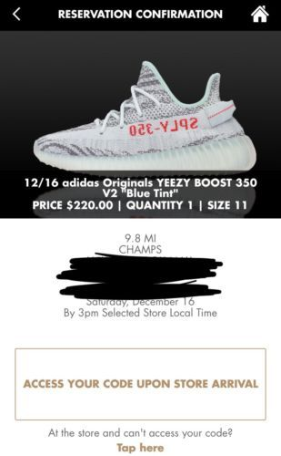b3b40ff97be Adidas Yeezy Boost 350 V2 Blue Tint Size 11 Guaranteed Champs Sports ...