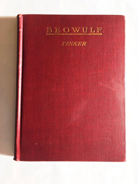 Beowulf 1927 edition translated by Chauncey Brewster Tinker.  Hardcover vintage book bound in maroon cloth.