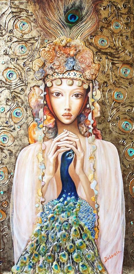 """"""" Girl with peacock """"- Dobriela Koeva"""