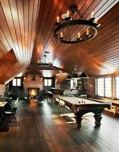 Man Cave Pool Room Billards Attic Game Room Attic Man