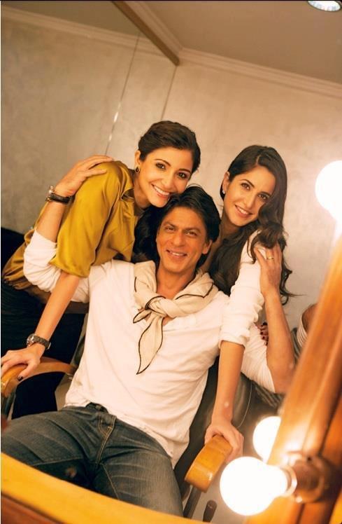 srk with katrina and anuskha sharma