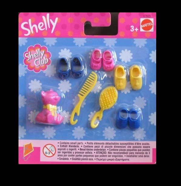 2002 Barbie Shelly aka/Kelly Shoes 4 Pack w/Brush & Comb + Pet RARE & Retired  #Mattel