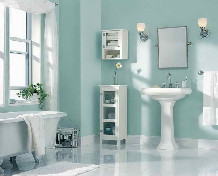 Behr Paint Color Ideas With Bathroom Wall Shelves