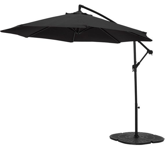 Buy Collection Black Non-Rotating 2.5m Overhanging Parasol at Argos.co.uk, visit Argos.co.uk to shop online for Garden parasols and bases, Garden furniture, Home and garden