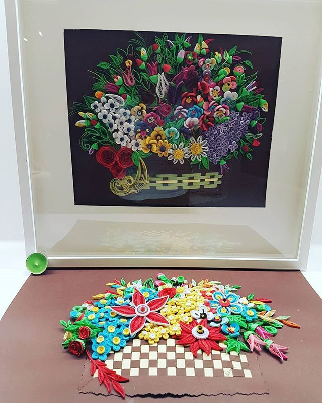 Project3: NATURE in SEASONS #quilling #art #by #jennytreeg #handmade #madebyme #quillion #miles #away #massive #bouquets #of #flowers #colors #august #2016