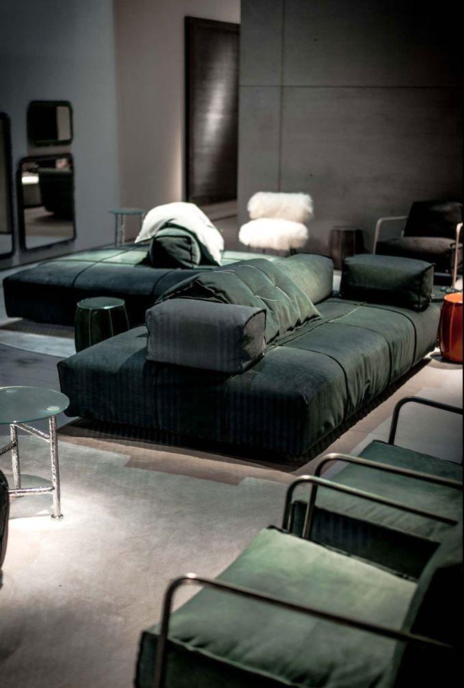 Sectional modular fabric sofa PANAMA BOLD by BAXTER design Paola Navone