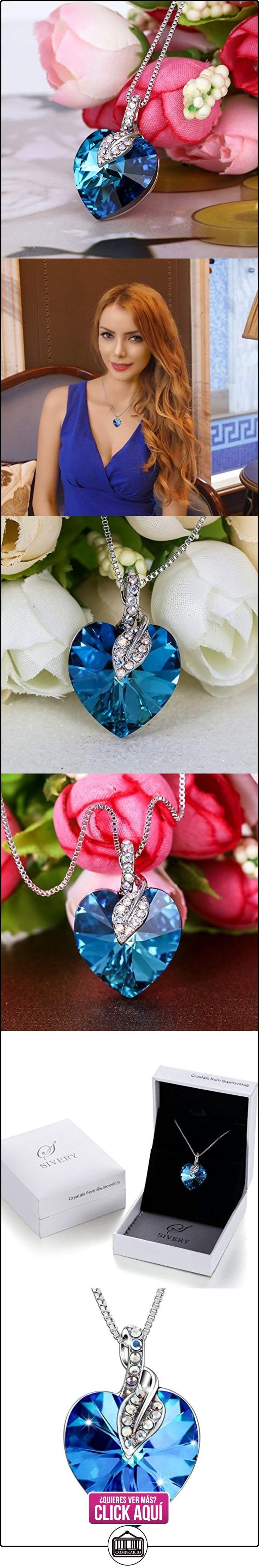 """Sivery """"Regalo del amor"""" collar pendiente de la manera con los cristales azules de Swarovski, collares mujer joven  ✿ Joyas para mujer - Las mejores ofertas ✿ ▬► Ver oferta: http://comprar.io/goto/B06WD58LLJ"""