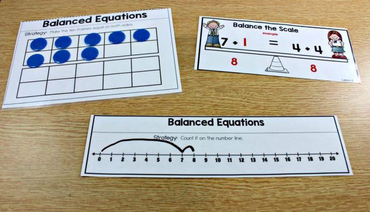 balanced equations, balancing across the equal sign