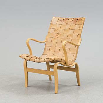 "BRUNO MATHSSON, BRUNO MATHSSON, a ""Eva"" armchair, Firma Karl Mathsson, Värnamo, 1974."