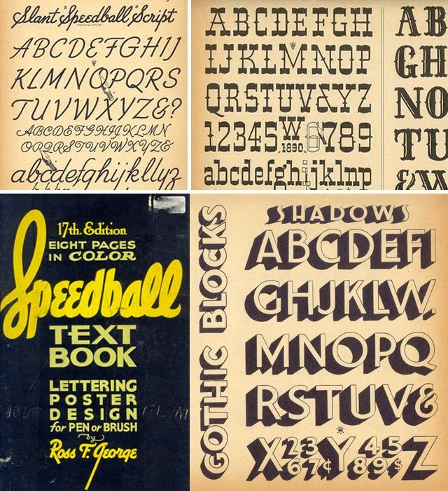The 21 best speedball lettering textbooks images on pinterest type inspiration speedball textbook handlettering alphabet signs type typography malvernweather Image collections
