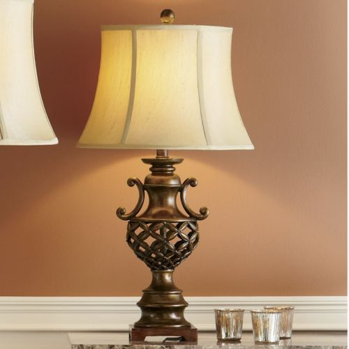 Floral scroll table lamp from seventh avenue