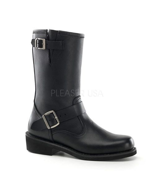 ENGINEER BOOT Black Leather Boots - Combat Boots for Men and Women