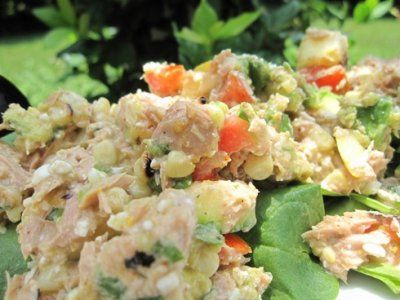 tuna and cottage cheese salad