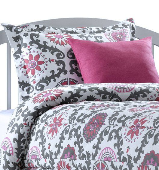 Rosa Flamingo Dorm Comforter Set (Includes Sham)