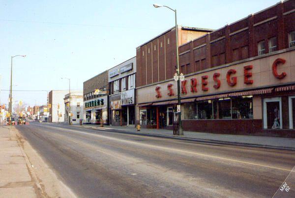 Sudbury ON Elm St - Zellers, Kresges 1960