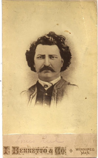 Louis David Riel (the son of Louis Riel Sr. and Julie Lagimodiere; and the husband of Marguerite Monet dit Bellehumeur) - Chipewyan/French Canadian (aka Métis) - 1884