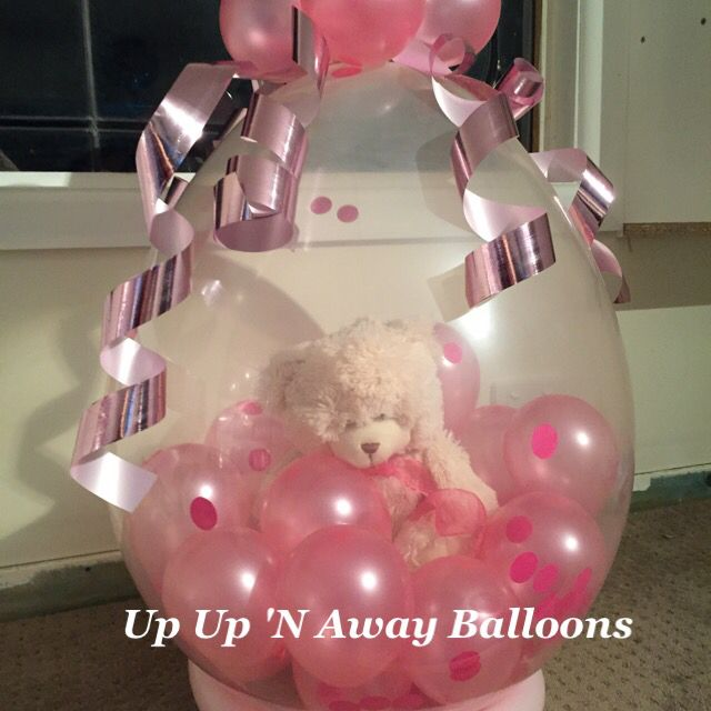 Welcome Baby stuffed Teddy Balloon. Available in a choice of colours. #cutenessoverload #welcomebaby #babygirl #teddybear