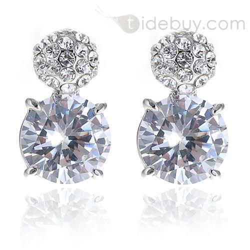 Clear Crystal Grape Lady's Earrings : Tidebuy.com