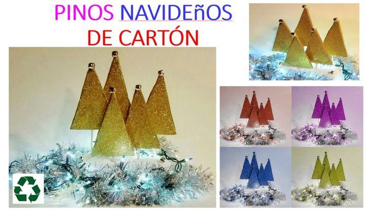 DIY: PINOS NAVIDEñOS EN MINUTOS / DIY Christmas Decoration Ideas - Littl...
