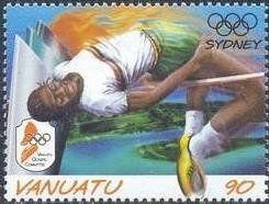Stamp: High Jump (Vanuatu) (Olympic Games) Mi:VU 1123