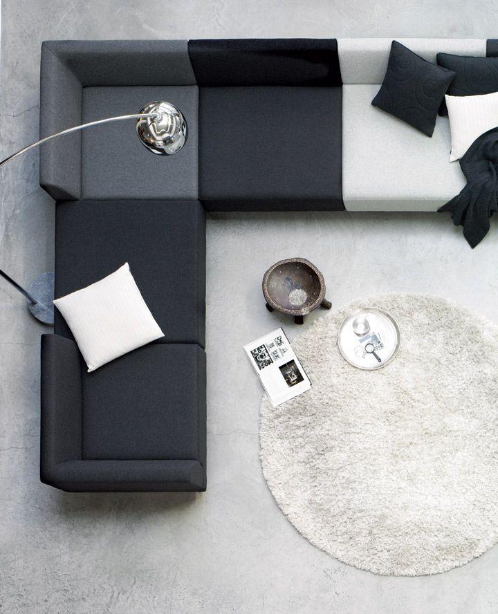 monochrome modular sofa DIY